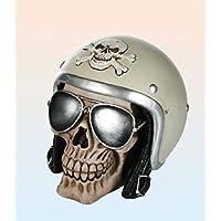 Preisvergleich für Spardose Sparbüchse Biker Totenkopf mit Helm und Sonenbrille