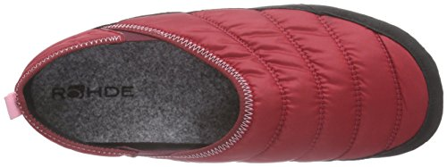 Rohde - Salla-d, Pantofole Donna Rosso (Rot (43 Medoc))