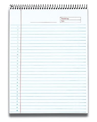 Docket Gold Wirebound Ruled Planner Pad, Legal Rule, Ltr, WE,