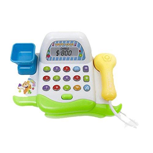 Xshuai Pretend Play Elektronische Spielzeug Kid Supermarkt Registrierkasse Realistische Aktionen (Mehrfarbig)