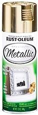 Rust-Oleum 1910830 Specialty Metallic Gold Spray Paint (Gold - 312 Grams)