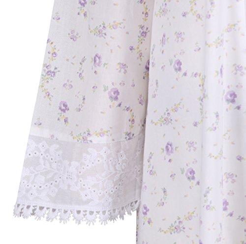 fürThe 1 for U 100% Baumwolle Bademantel / Hausmantel Rosalind lila rose