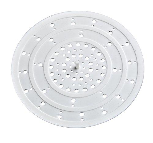 WENKO 8183100 Abfluss-Sieb Silikon - für die Küche, Silikon, 12 x 0.3 x 12 cm, Weiß