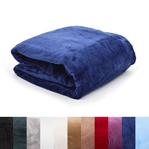 Pink Papaya SnugMe Supersoft, flauschig weiche XXL Cashmere-Touch Kuschel-Decke, 200 x 150 cm, 280g/m² Flannel-Fleece, Farbe: Dunkel-Blau