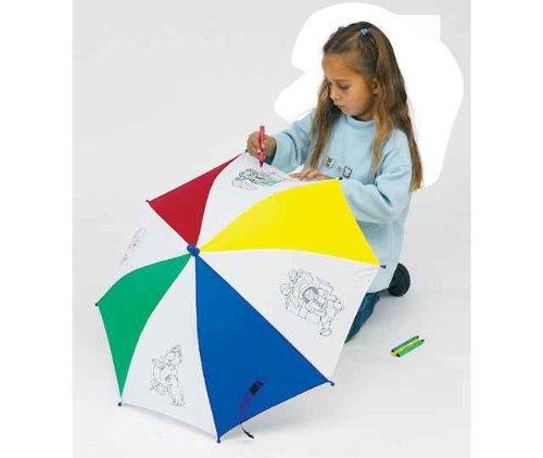 Preisvergleich Produktbild Regenschirm Schirm für Kinder zum selbst bemalen 62 cm