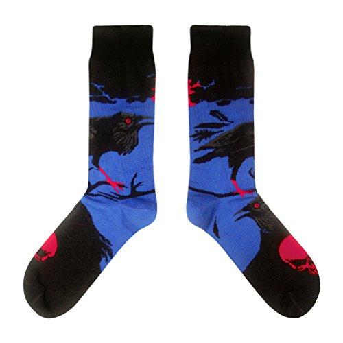 Krähen / Horror - Socken in der Tasse - Herren und Damen Geschenksocken Freizeit Socken (37-40) (Halloween-raben Und Krähen)
