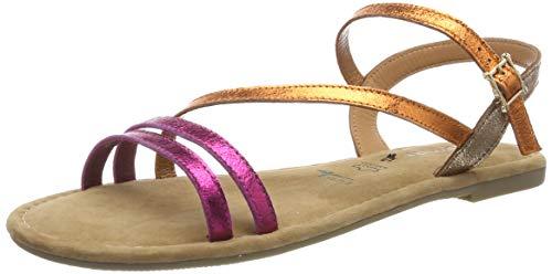 Tamaris 1-1-28113-22, Sandali con Cinturino alla Caviglia Donna, Rosa (Fuxia Comb 505), 41 EU