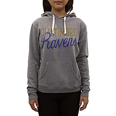 NFL Baltimore Ravens Women's Sweatshirt, Large, Medium Heather Grey