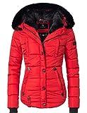 Marikoo Damen Winter Jacke Steppjacke Lotusblüte (vegan hergestellt) Rot Gr. XXL
