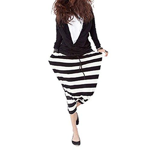 Queenbox Unisex Harem Hosen Hosen mit traditionellen Weben und elastischen Bund - Strips