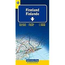 Carte routière et touristique : Finlande