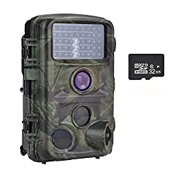 "Nicam Trail Camera 1080P Hunting Game Camera 12MP With with Infrared Night Vision Free 32G SD Card 2.4""TFT LCD Screen,120°PIR,45pcs IR LEDs IP66 Waterproof"