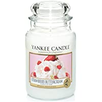 Yankee Candle Large Jar Candle, Strawberry Buttercream