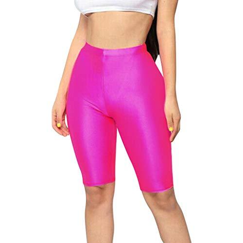 Innerternet Kurze Sporthose Damen, High Waist Yoga Sport Shorts Leggings für Sommer, Spandex Laufhose Einfarbig Strumpfhose Atmungsaktiv Leggings Hose Für Gym Yoga Laufen Fitness -