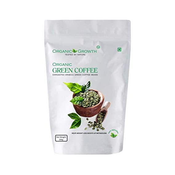 Organic Growth Green Coffee Beans for Weight Loss 200GR (1)