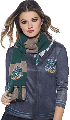 Harry Potter Deluxe Bufanda Slytherin, Multicolor, (Rubie'S 39034)