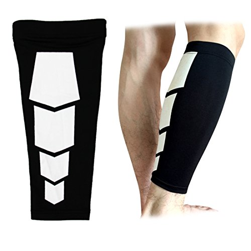 EZGO Compression Calf Sleeves(PAIR)-Professional Compression Shin Splints Support for Man and Women with Sports Recovery, Shin Splints, Medical, Work, Flight - Running, Cycling, Soccer, Rugby, Fitness, Gym, Golf, Tennis & Cross Fit-Socks Tights Test