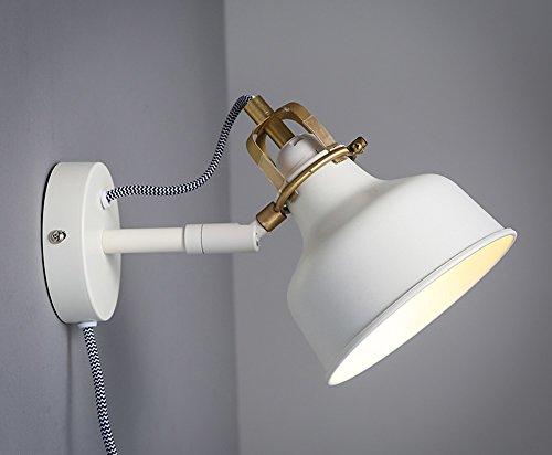 Rocker White Wandleuchte Retro Wohnzimmer Schlafzimmer Nachttischlampe