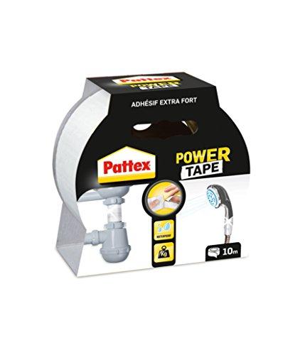 Pattex Power Tape Reparatur-Klebeband in Box, 10 m, Weiß