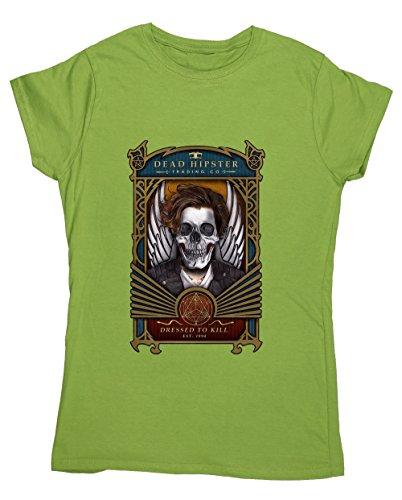Hippowarehouse Damen T-Shirt, Grün, 50007-DTG-FT-KL