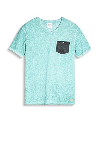 edc by ESPRIT Herren T-Shirt Grün (Aqua Green 380)