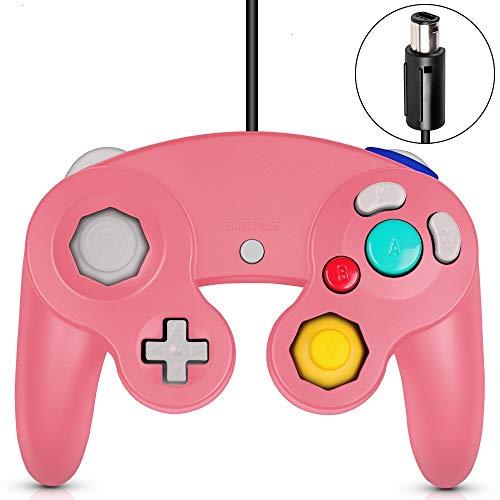 VOYEE Gamecube Controller, klassisch, verkabelt, kompatibel mit Wii Nintendo Gamecube, Pink