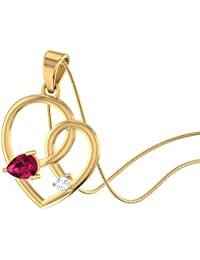 Stylori 18KT Yellow Gold and Diamond Pendant for Women (SP0787-18113400)