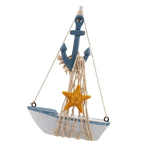 Generic Maritime Holz Mini Segelboot Segelschiff / Boot-Modell Tisch Geschenk Dekor - Anker