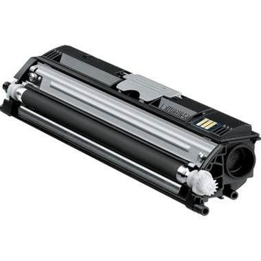 1650en Farbe (Eurotone Toner BLACK für Konica-Minolta QMS 1600 Serie, Magicolor 1600 W + 1650 EN / EN D / EN DT + 1680 MF + 1690 MF Schwarz)