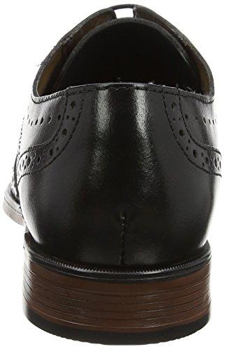 Burton Menswear London Herren Keyworth Brogue Schwarz (Schwarz)