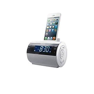 Sony ICF-C11IPW - Radio despertador con puerto dock para Apple iPhone 5 (digital, AM/FM), blanco (B00BLI02K8)   Amazon price tracker / tracking, Amazon price history charts, Amazon price watches, Amazon price drop alerts