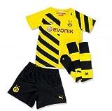 PUMA Kinder Baby Trikot Set BVB Home Minikit with Socks, Cyber Yellow-Black, 104, 745912 01