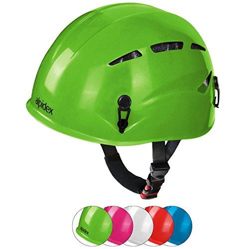 Alpidex casco universale per arrampicata e alpinismo argali kid in molti colori diversi moderni, colore:apple-green