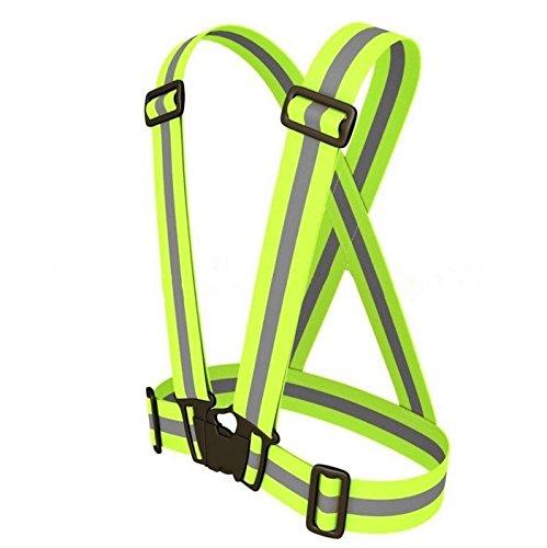 beishuo regolabile ad alta visibilità cinghia riflettente Gilet per Jogging, Ciclismo, Passeggiate, Equitazione Moto e corsa