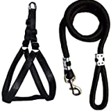 Smart Doggie Chest Belt and Rope for Dogs (0.75 inch Small, Black)