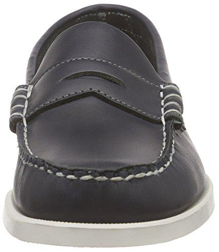 Sebago DOLPHIN Herren Slipper Blau (Navy Leather)