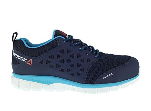 Reebok lavoro IB131S1P 38Excel luce da donna scarpe da ginnastica di sicurezza S1P SRC, taglia 38, blu navy con bordo verde acqua
