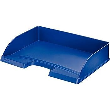 blau DIN A4 Polystyrol LEITZ Briefablage Plus Jumbo