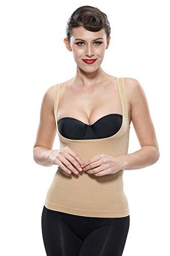 Damen Shapeshirt Bauchkontrolle Shapewear Tank Top Nahtlose Body Shape Trägertop