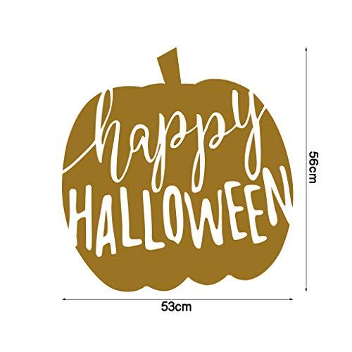 Goldener Kürbis-Mattaufkleber geschnitzter Kürbis-Halloween-Wand-Aufkleber - Fußball Inspirierende