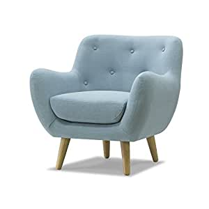 poppy meuble fauteuil esprit seventies bleu ciel bleu alinea cuisine maison. Black Bedroom Furniture Sets. Home Design Ideas