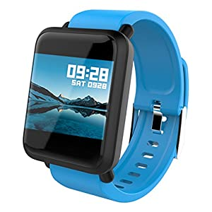 Smart Watch Android Touch Screen Fitness Tracker Blood Pressure Heart Monitor Pedometer Activity Tracker BP HR Calorie…