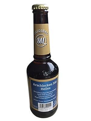 ML Sepp Bumsinger präsentiert 6-Pack Arschlecken 350 Helles Bier in Männerhandtasche, 6x0,33 l, 5,2% vol Alk, Geschenkidee Weihnachten Geburtstag 3,50 ML