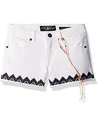 Lucky Brand Girls' Riley Embroidery Hem Short