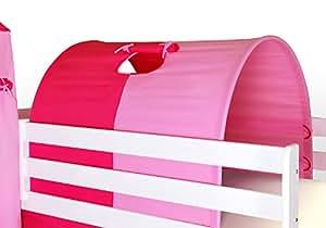 Tunnel piccolo rosa per letto a soppalco letto a castello casa e cucina - Letto castello amazon ...
