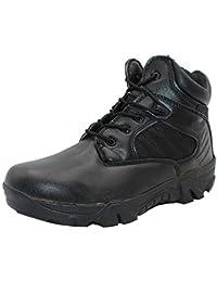 Tenthree Hombre Botas Militar Combate Seguridad - Hombres Botas de Servicio Trabajo Utilidad Calzado Botas Al