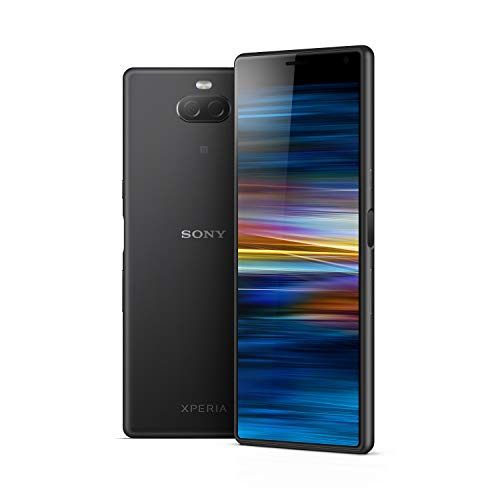 Sony Xperia 10 Smartphone (15, 24 cm (6 Zoll) 21: 9 Full HD+ Display, 64 GB Speicher, Dual-SIM, Split-Screen, Android 9) Schwarz