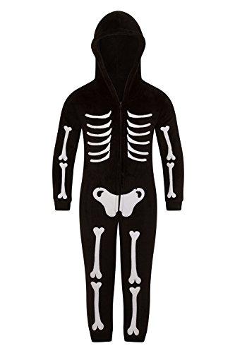 Lounge able, donna lusso 3d novità schauriges hallowwen elegante abito intero da jumpsuit kids - skeleton 7 anni