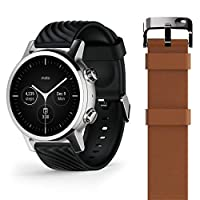 Motorola Moto 360 3de generatie Smartwatch - Roestvrij stalen behuizing met 20 mm banden, de hele dag batterij, & WearOs Steel Grey
