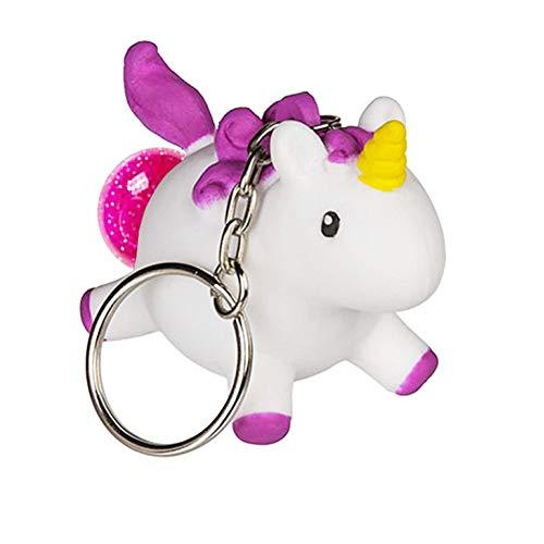 OOTB Einhorn-Schlüsselanhänger, der rosa Poop mit Glitzer nach innen Macht - Anti-Stress-Spielzeug - Squeeze Poop-Tier